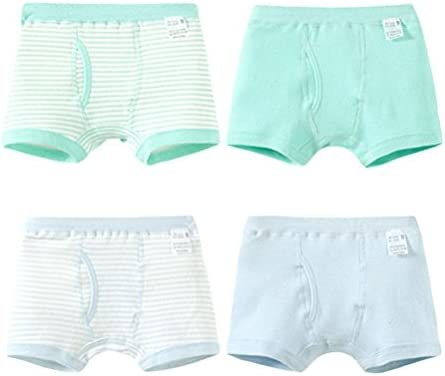 4 PCS Children's Cotton Underwear Boys Elastic Flat Underwear 60585