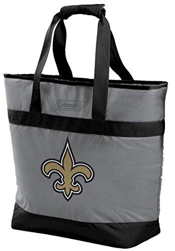 NFL New Orleans Saints Unisex LP0757NFL 30 Can Tote Cooler, Black, Adult -