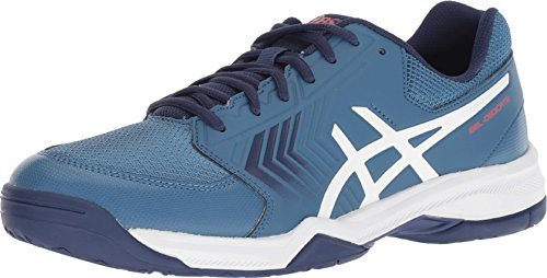 ASICS Men's Gel-Dedicate 5 Tennis Shoe (11 D(M) US, Azure/White)