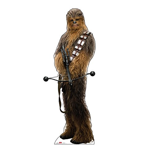 (Advanced Graphics Chewbacca Holding Bow Life Size Cardboard Cutout Standup - Star Wars: Episode VIII - The Last Jedi (2017 Film))