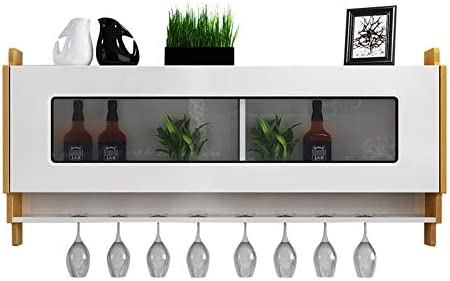 Armarios de vino HLR Botellero Vinoteca Nórdica De Pared Colgador De Vino Colgante Simple Madera Maciza Repisa (Size : A)