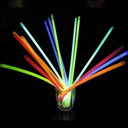 Light Sticks for Neon Party Glow Necklaces and Bracelets for Kids or Adults Glow Sticks Bulk Party Favors Supplies 100 Count 8 Glow in The Dark Party Supplies