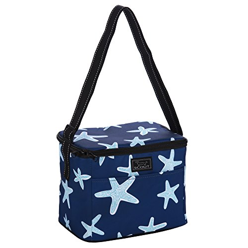 Star Lunch Box (SCOUT Ferris Cooler Insulated Lunch Box and Soft Cooler, PVC-free Liner, Adjustable Strap, Water Resistant, Zips Closed, Fish Upon a Star)