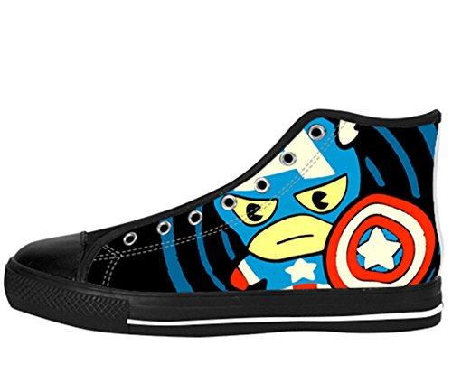 Høy Topp Sko Captain America Utformingen Kaptein Shoes15 Kvinners Lerret