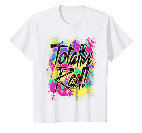 Kids Totally Rad 80s Paint Splash Color Run 1980s Party T-Shirt 6 White