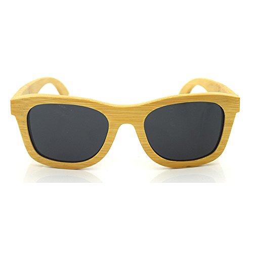 Peggy Proteccion Hombres Grabado UV Moda Polarized Protección a de Gu de para Sunglasses Unisex Bamboo Retro Tonos Ojos Lens Mano Style Mujeres rqSrHnw4a