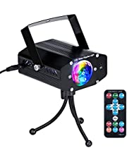 IDESION Mini LED Disco DJ Party Lights Sound Activated Colorful Rotating Lighting Effect with Remote Controller for Home Entertainment Karaoke KTV Birthday Xmas Gathering Celebration Parties
