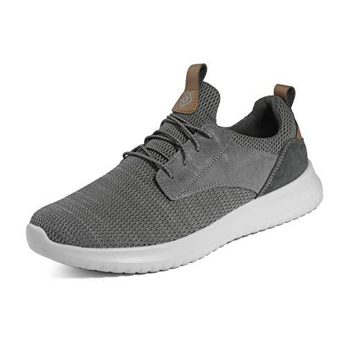 Bruno Marc Men's Slip On Walking Shoes Sneakers Walk-Work-01 Grey Size 6.5 M US