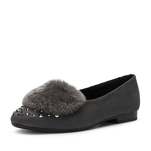 Ladies Leisure Low Heel Schuhe,Quadratisch Mit Runder kopf-Schuhe B