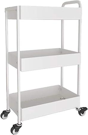 Axdwfd Mini estantería pequeña, Estante para Platos de Cocina Cesta de Almacenamiento de Cocina de múltiples Capas Estante móvil para cochecitos IKEA Estante para escombros 45.5 * 28 * 84cm: Amazon.es: Hogar