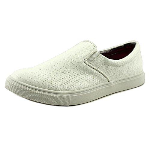 Material Girl Kvinna Extra Låg Topp Slip På Mode Sneakers Vita
