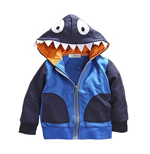 Stylesilove Young Kids Boy Cute Animal 3D Hoodie Jacket (100/3-4 Years, Shark) (Snake Hoodie)