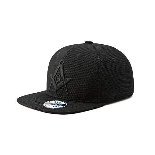 Masonic Revival - Noche Urbana Cap Hat (Stretch Fit (L/XL)) Black ()