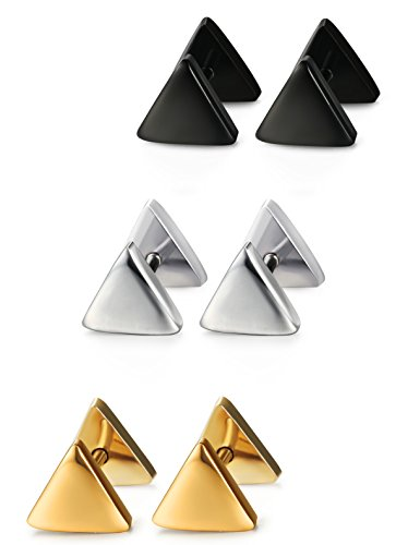 Jstyle Stainless Earrings Piercing Triangle