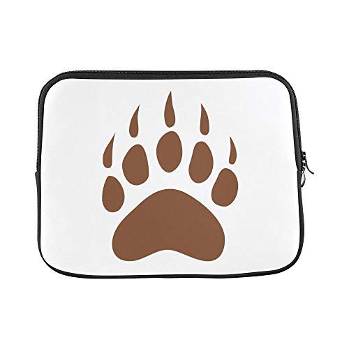 (Design Custom Cool Black Brown Roaring Bear Head Paw Sleeve Soft Laptop Case Bag Pouch Skin for Air 11