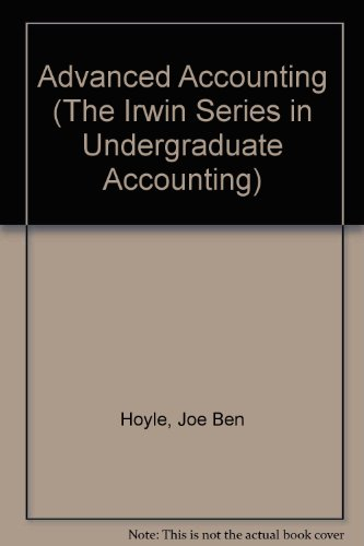 Advanced Accounting (The Irwin Series in Undergraduate Accounting)