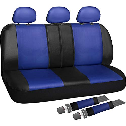 Motorup America Full Set Leather Auto Seat Cover - Fits Select Vehicles...