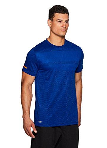 RBX Active Men's Athletic Gym Workout Short Sleeve T-Shirt Royal Blue M