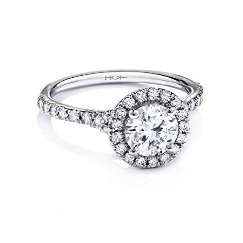 2.00 Carat Round Halo Simulated Diamond Engagement for sale  Delivered anywhere in USA