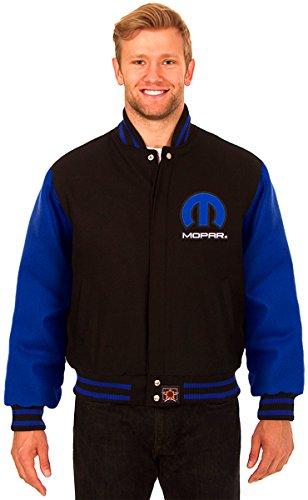 JH Design Mopar Men's Wool Jacket With Embroidered Applique Logos (Large) by J.H. Design