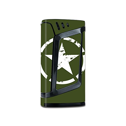 Skin Decal Vinyl Wrap For Smok Alien 220W Vape Stickers Skins Cover   Green Army Star Military