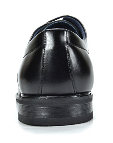 Bruno Marc Homme Prime-1 Robe Doublée En Cuir Chaussures Oxford Noir