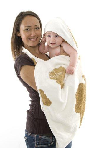 Cuddledry Baby Apron Bath Towel Cowprint by Cuddledry