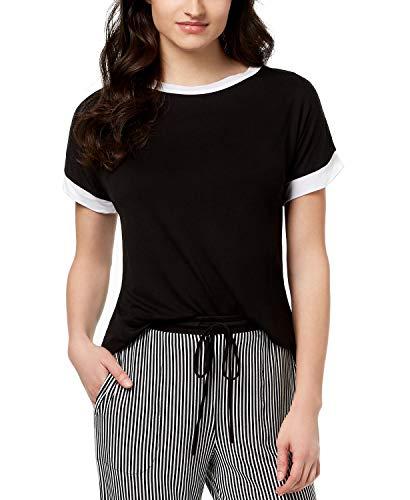Pajama Top Dkny (DKNY Contrast-Trim Pajama Top M Black)