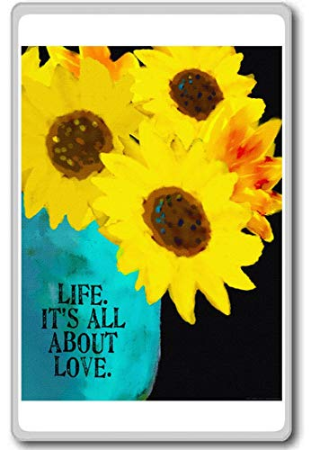 Life, It's All About Love - Motivational Quotes Fridge Magnet