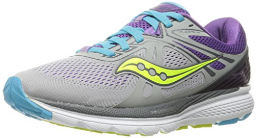 Saucony Swerve - Zapatillas de Running de Material Sintético Mujer, Multicolor ( Multicolor (Grey/Purple/Blue)
