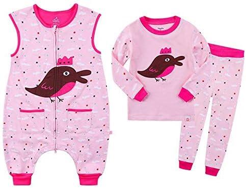 CWLLWC Saco de Dormir para bebé,Tres Conjuntos de otoño e Invierno Ropa para niños Conjunto de Ropa para niños Colcha Antideslizante bebé piernas bebé Saco ...