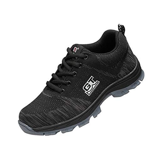 Homyl Zapatos de Seguridad de Malla Transpirable Zapatillas de Trabajo Industrial Deportivo con Puntera de Acero para Mujer...