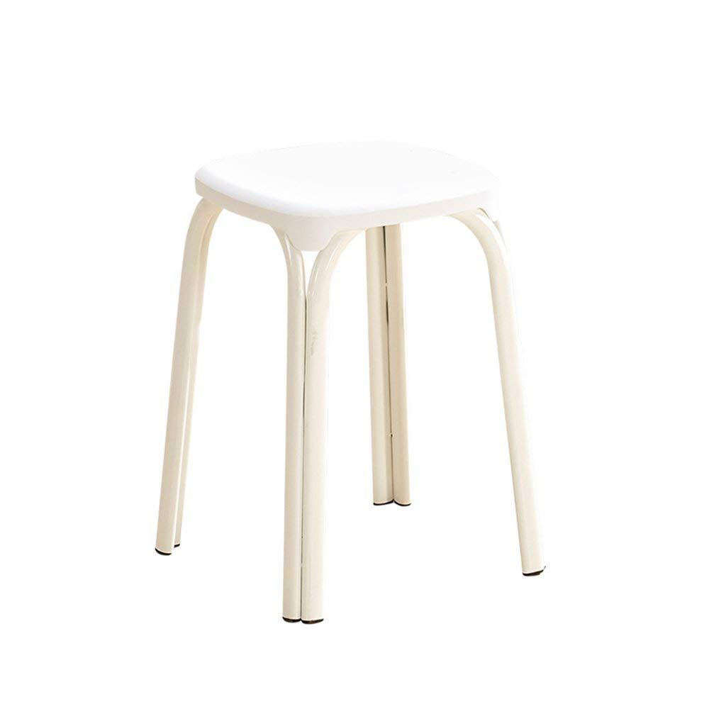 8 GJD Chair-Plastic Stool Padded Adult Household Dining Table Bar Stool Fashion Chair Modern Simple Living Room High Stool Home Convenient (color   8)