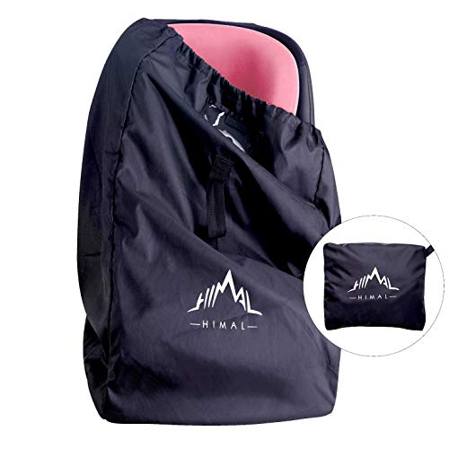 Himal Car Seat Travel Bag - Excellent Gate Check Bag for Airport, Easy Carry with Shoulder Strap and Waist Strap, Protects Universal Child's Car Seat for Travel, - Gate Airport Check