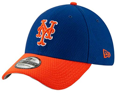 New Era 2019 MLB New York Mets Hat Cap Batting Practice 39Thirty 3930 (S/M) Royal/Orange