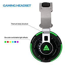 [2016 New Released Headset]GT Supsoo G800 USB Wired Surround Stereo PC Over Ear Gaming Headset Headband Headphones with Rotating Mic Noise Canceling Vibration Tuner Function and LED Light(black)
