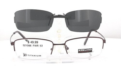 KIRKLAND-SIGNATURE SABINO-521066-53X17 POLARIZED CLIP-ON SUNGLASSES (Frame NOT - Polarized Sunglasses Kirkland