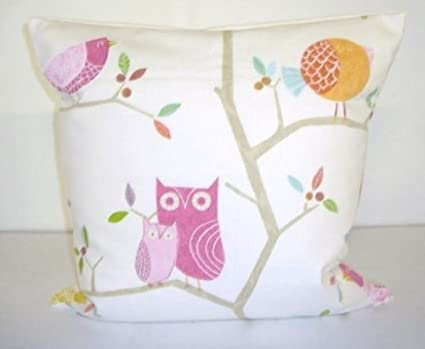 """20/"""" x 20/"""" Harlequin Pink What the Hoot Cushion Cover"""
