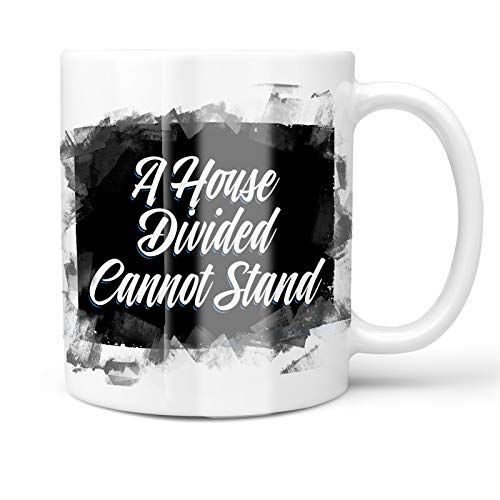 - Neonblond 11oz Coffee Mug Classic design A House Divided Cannot Stand with your Custom Name