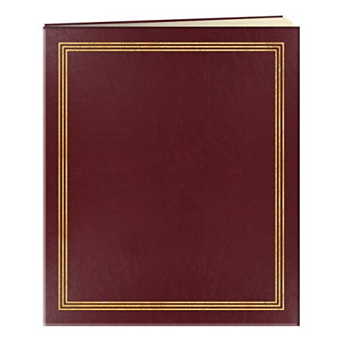 "Pioneer Jumbo Family Memory Album, 11 3/4x14"" Scrapbook with 50 Archival Buff Colored Pages, Burgundy Covers"