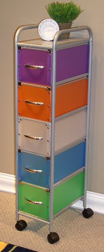 4D Concepts 5-Drawer Chest, Multi Color-Drawers