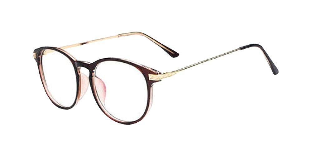 Brown New Fashion Retro Vintage Round Circle Frame Eyeglasses Clear Lens Eye Glasses