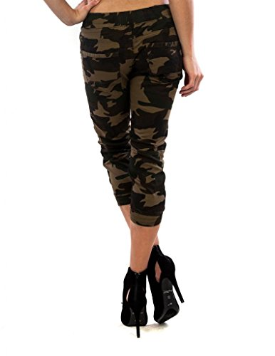 Exocet Womens Cotton Cropped Camo Jogger Pant 1X Camo