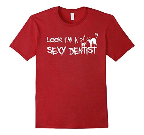 Mens Look I'm A Sexy Dentist - Funny Halloween Dentist T-Shirt XL Cranberry