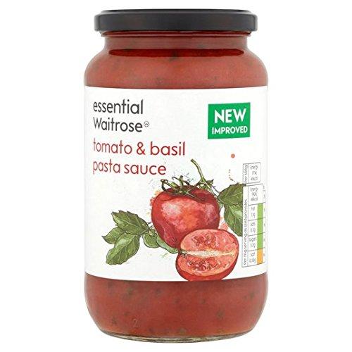 Essential Waitrose Pasta de tomate y albahaca Salsa 555G