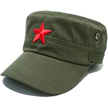COOLSOME Vintage Fatigue Red Star Mao Army Military Hat