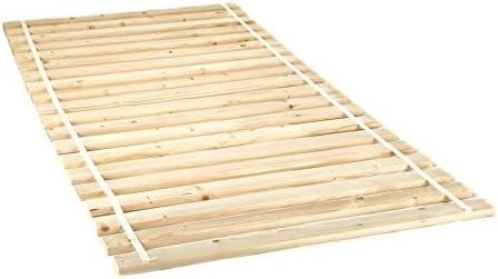 Somier 90/120/140/160/180 x 200 - Láminas de madera maciza de pino natural (20 láminas), 90 x 200 cm