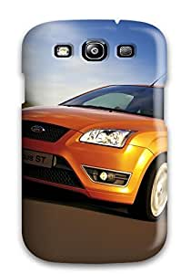 Hot Snap-on Ford Focus St 3 Blue Sky Orange Road Grey Speeding Motion Cars Ford Hard Cover Case/ Protective Case For Galaxy S3