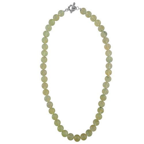 "Pearlz Ocean Prehnite Gemstone Beads 18"" Bold Necklace Chains & Necklaces at amazon"