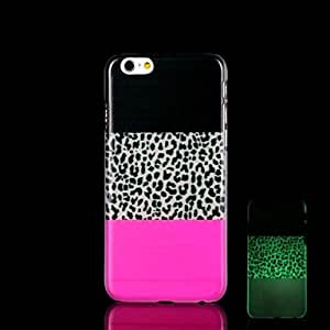 WQQ Leopard Print Pattern Glow in the Dark Hard Case for iPhone 6 Plus